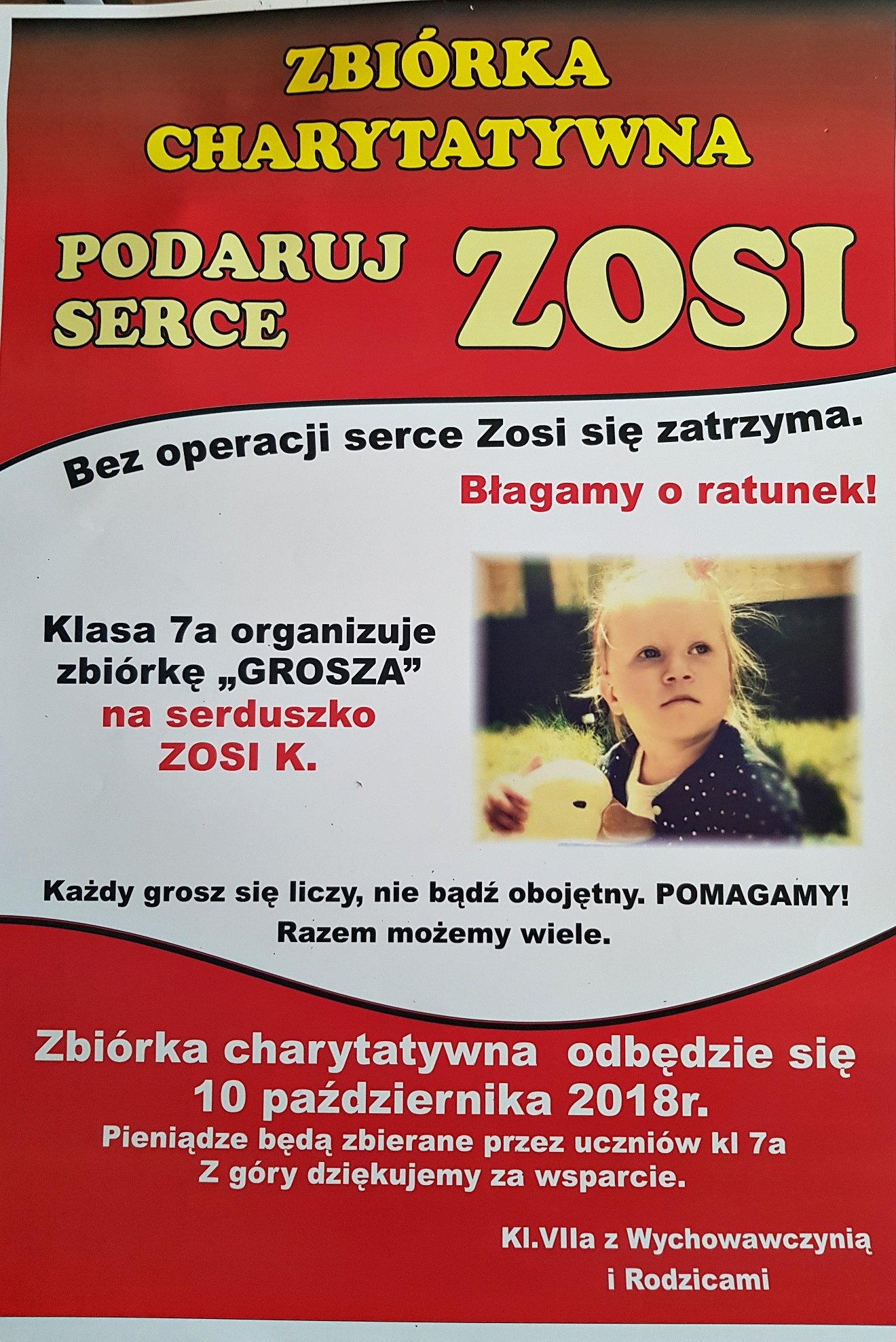 """Podaruj serce dla Zosi"""