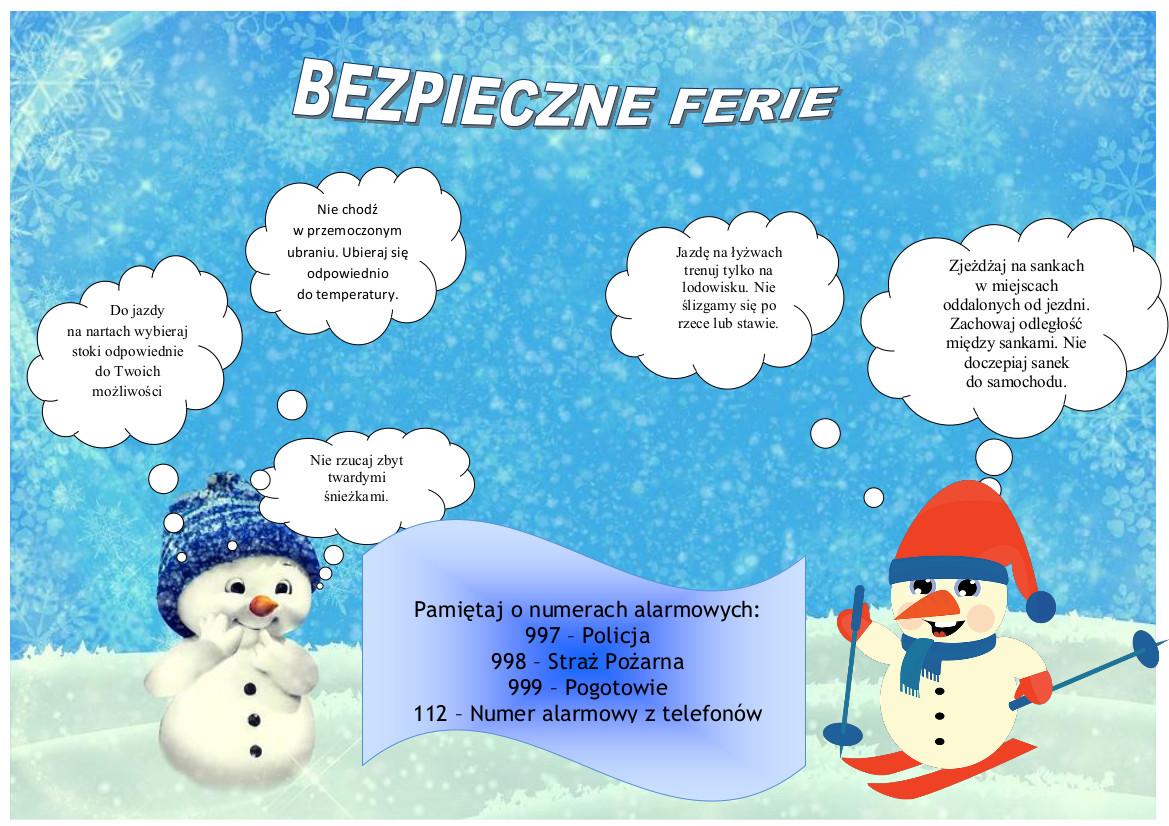 Bezpieczne ferie zimowe 2019