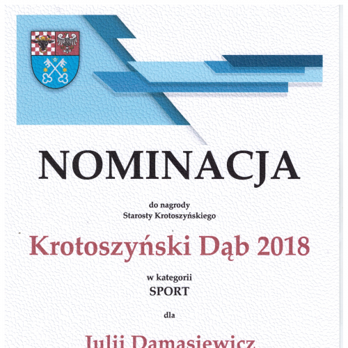 nominacja Krotoszyński Dąb