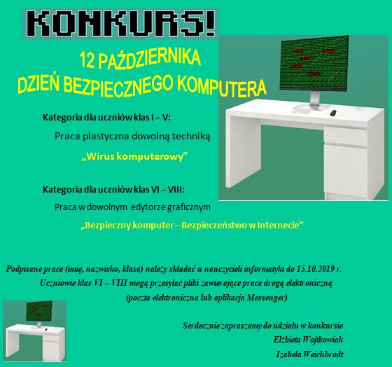 """Konkurs """"Bezpieczny komputer"""""""